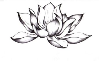 Awesome-Black-Ink-Lotus-Flower-Tattoo-Design